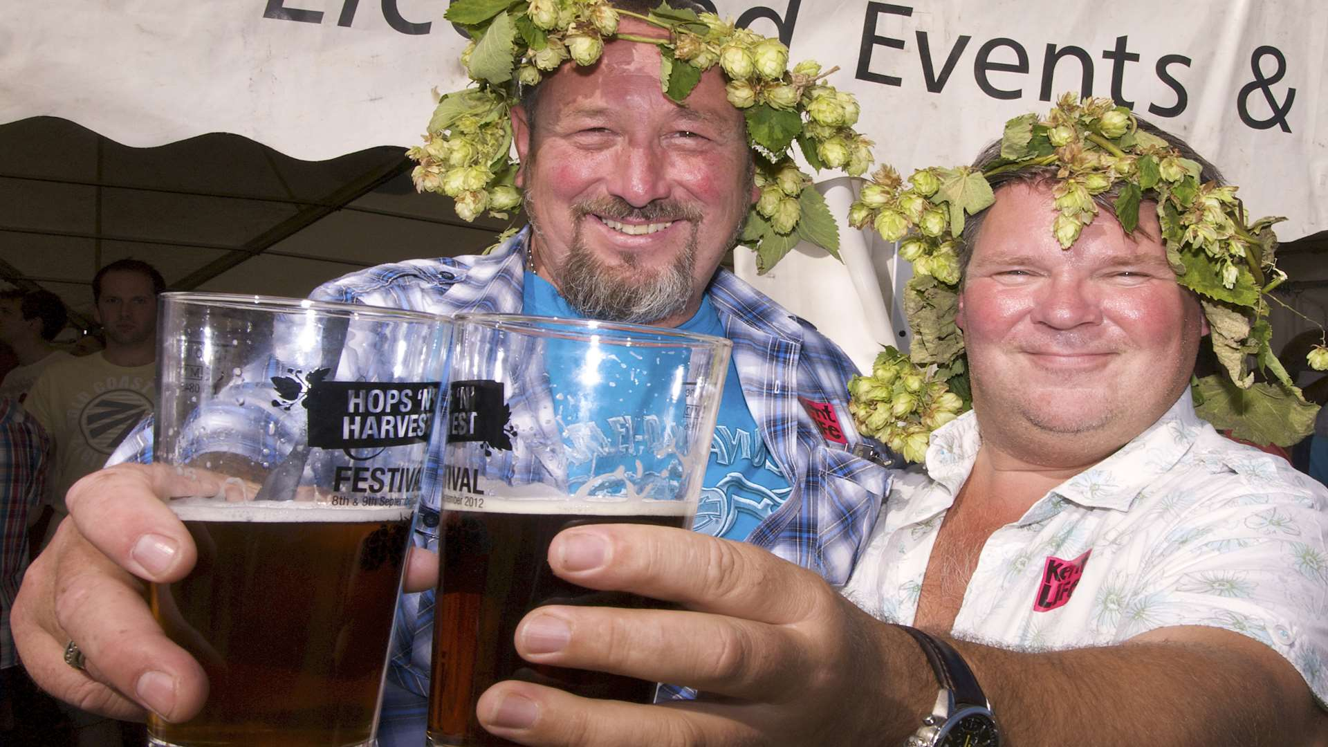 Raise at glass to the hops harvest at Kent Life