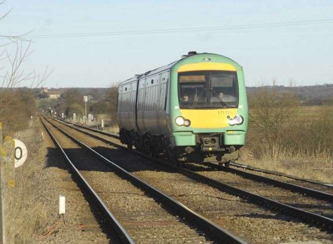 Southern trains operate in west Kent. Stock image
