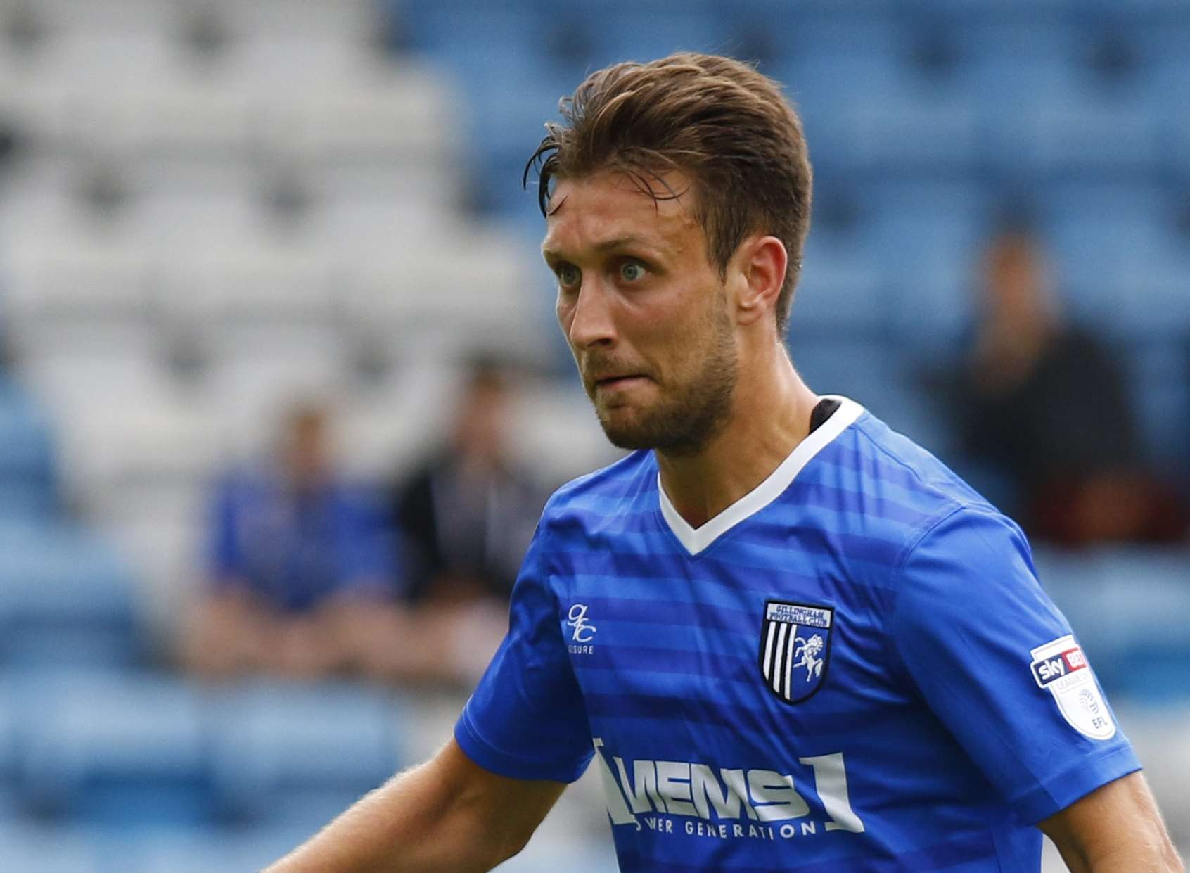 Gillingham's Luke O'Neill will be coming up against his former club this weekend Picture: Andy Jones