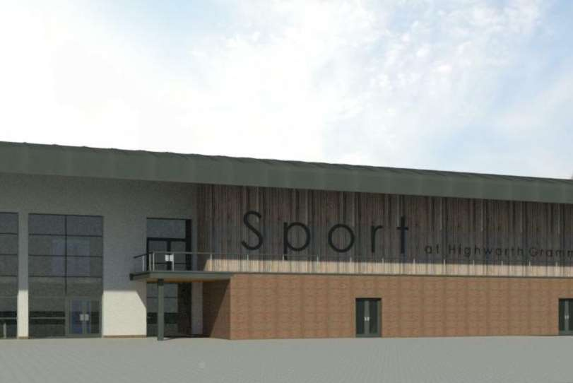 How the new Highworth sports hall will look