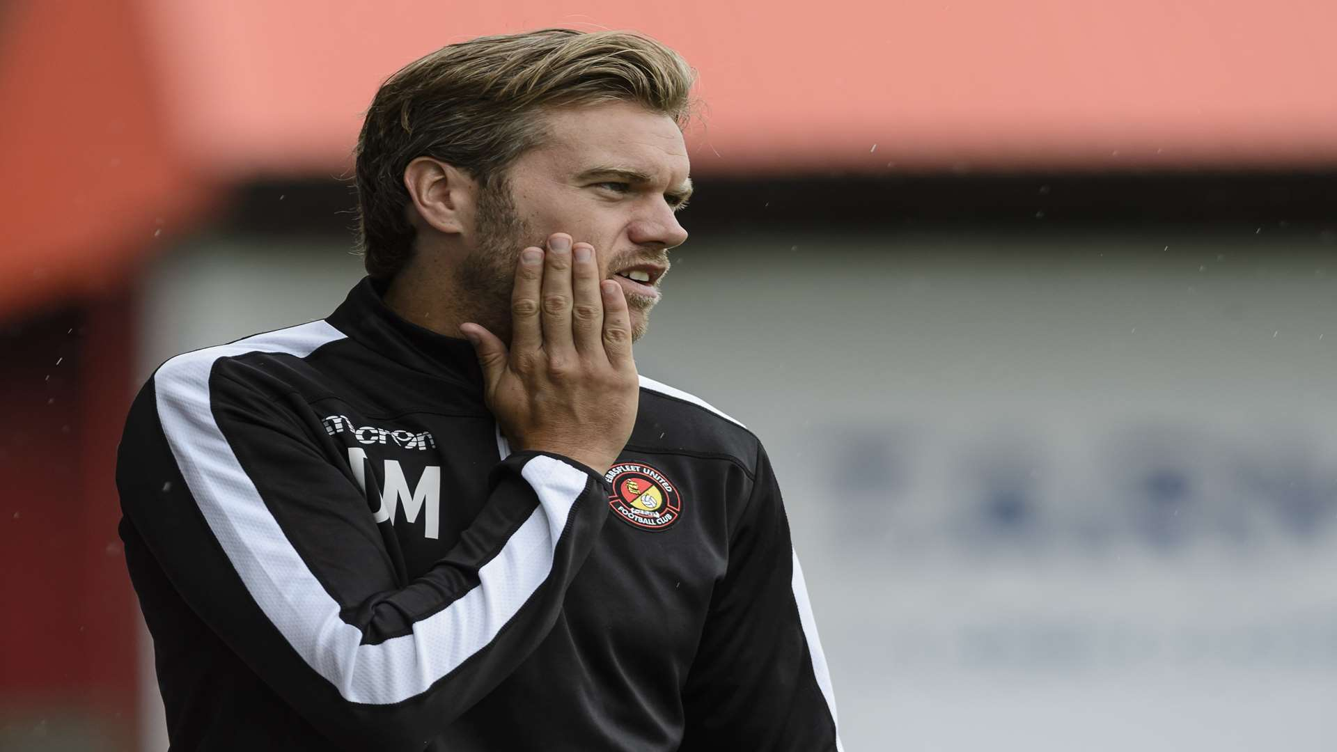 Ebbsfleet manager Daryl McMahon Picture: Andy Payton