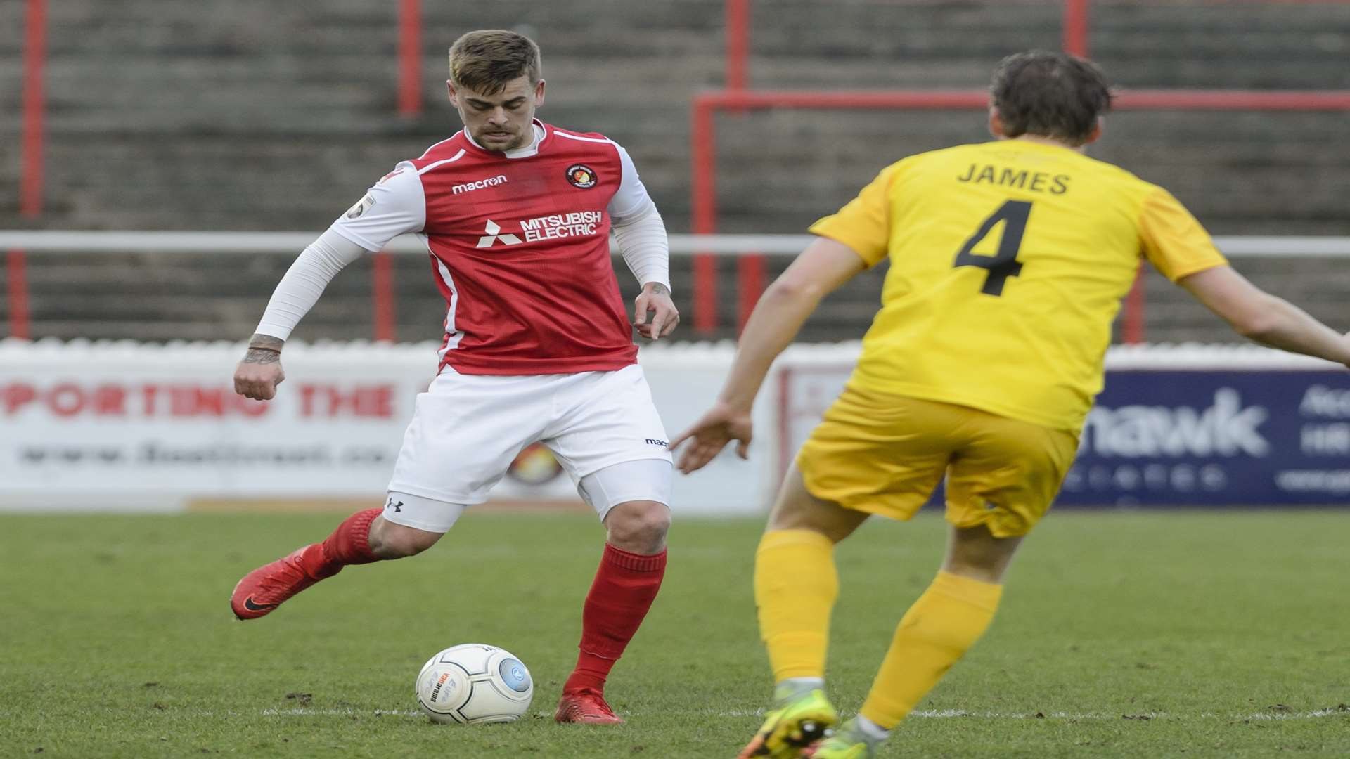 Sam Magri on the ball against Chester Picture: Andy Payton