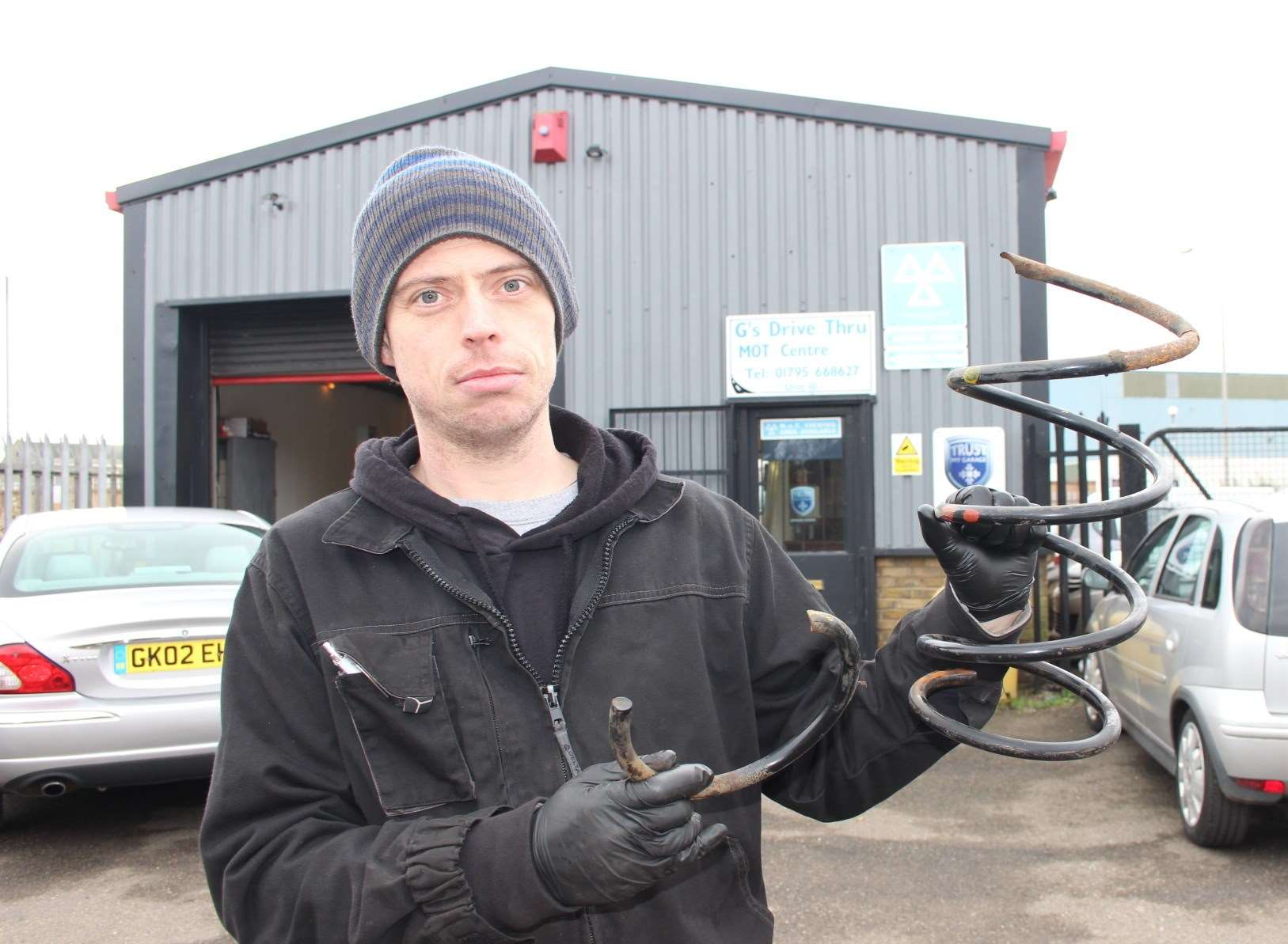 Stuart Bradburn of G's Drive-Thru MOT Centre in Blue Town, Sheerness, says he is replacing at least three car springs a week.