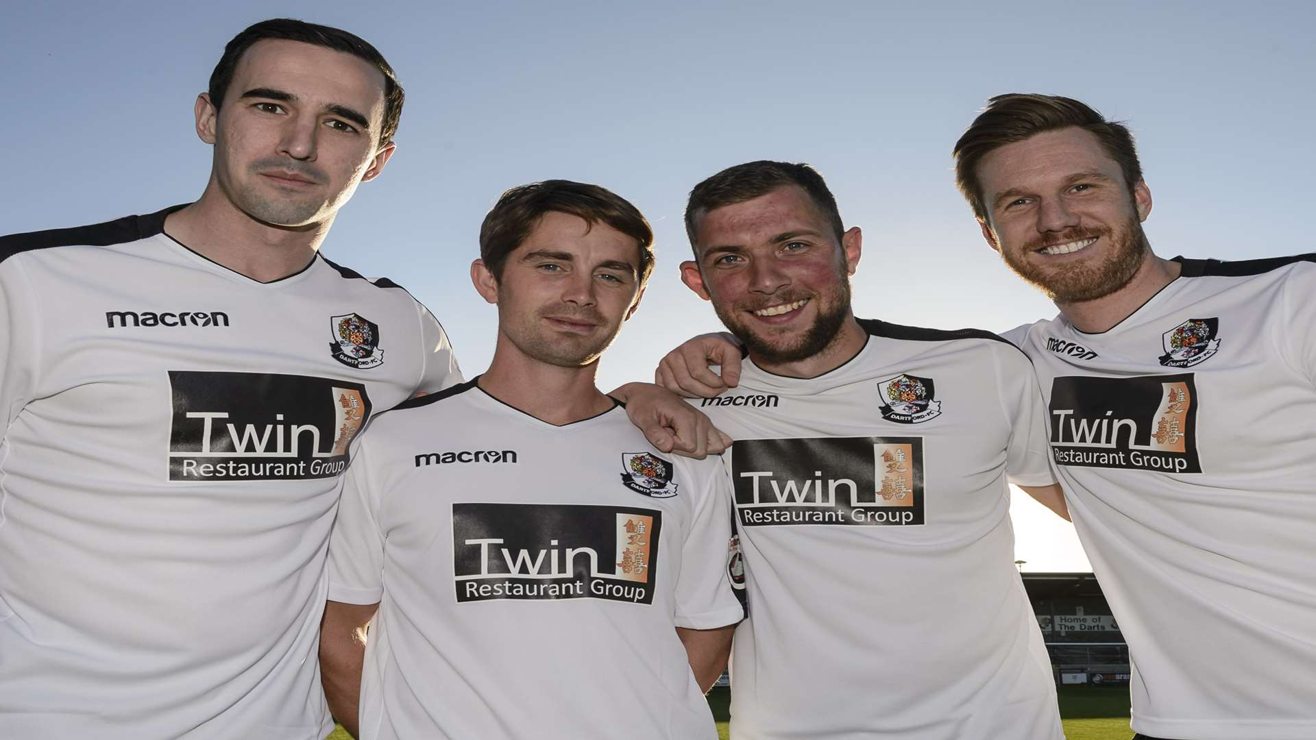 The core: Danny Harris, Lee Noble, Ryan Hayes and Elliot Bradbrook Picture: Andy Payton