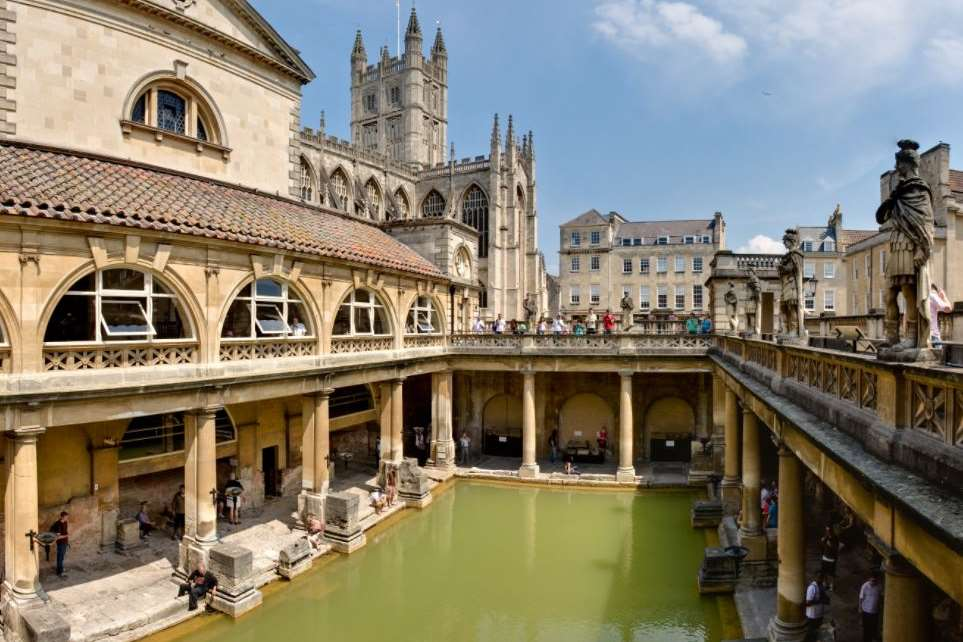 The Roman Baths sit below street level and consist of the magnificently-preserved remains of one of the greatest religious spas of the ancient world.