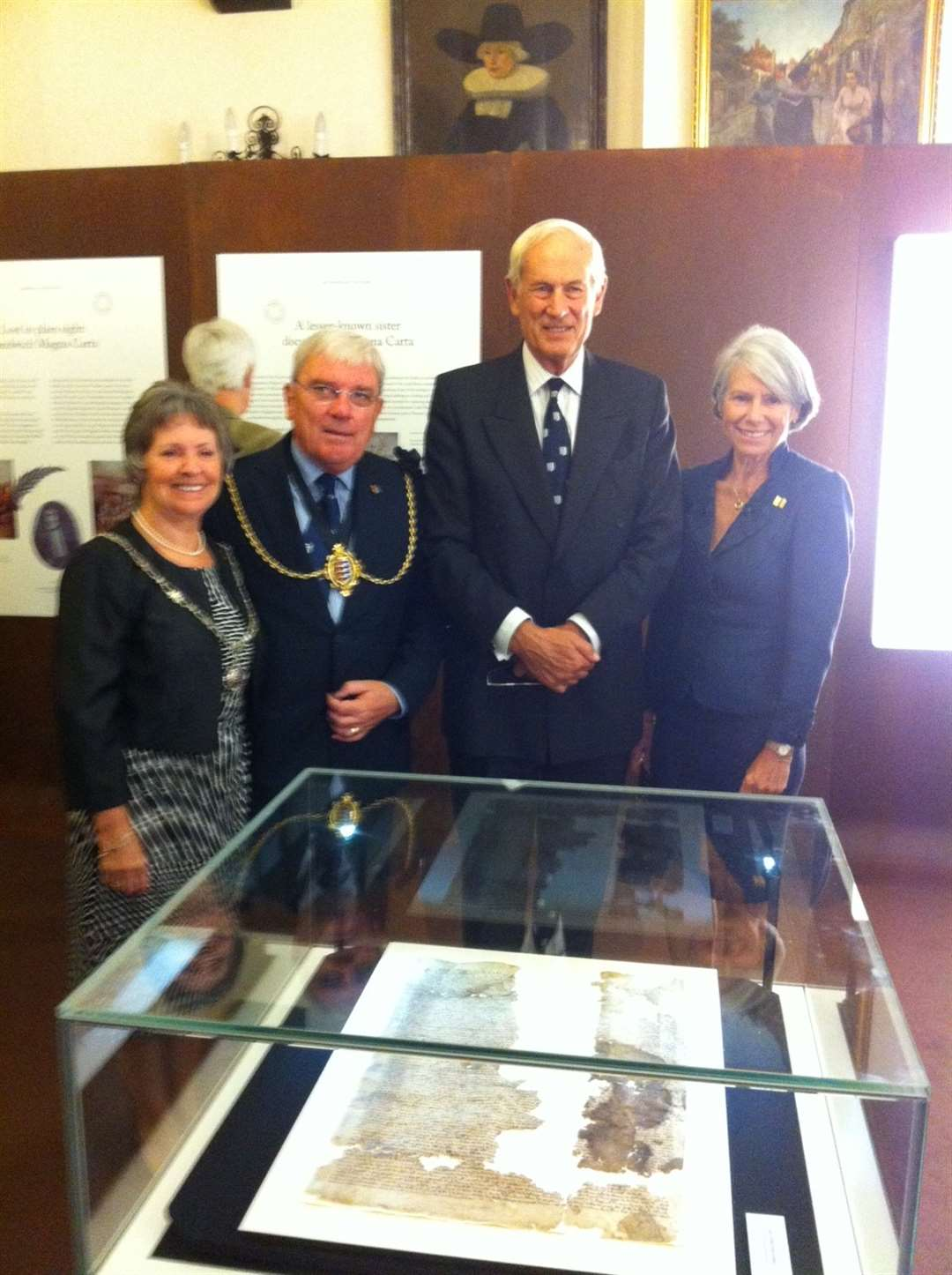 Mayoress of Sandwich, Mayor Paul Graeme, Admiral of the Fleet The Lord Boyce and wife Fleur