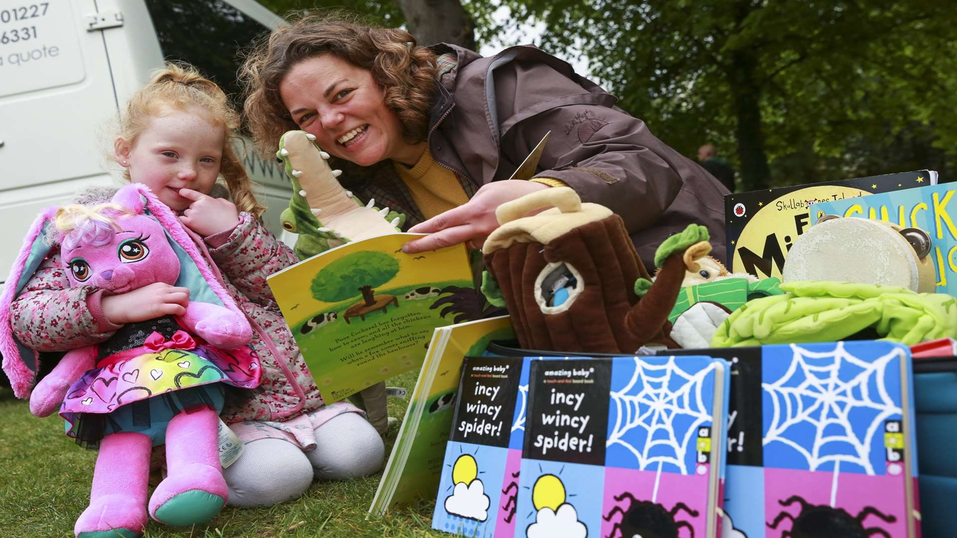 Emily Guille-Marrett, founder of Reading Fairy, pictured at the family event Buster's Big Bash which is run by the KM Charity Team each May.