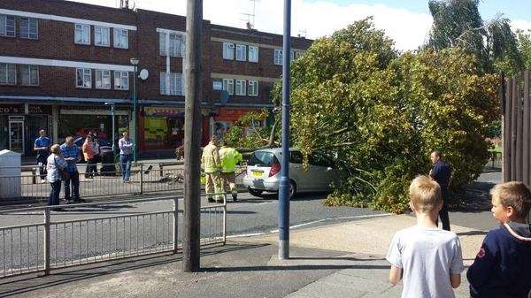 The incident at Valley Drive, Gravesend. Picture: @checkov1975