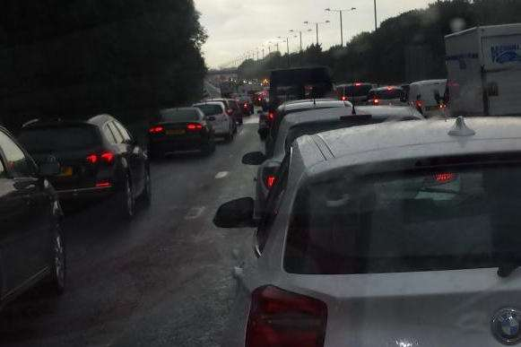 Drivers earlier described the M25 as a car park