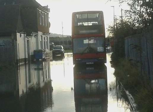 The flooding in Canal Road