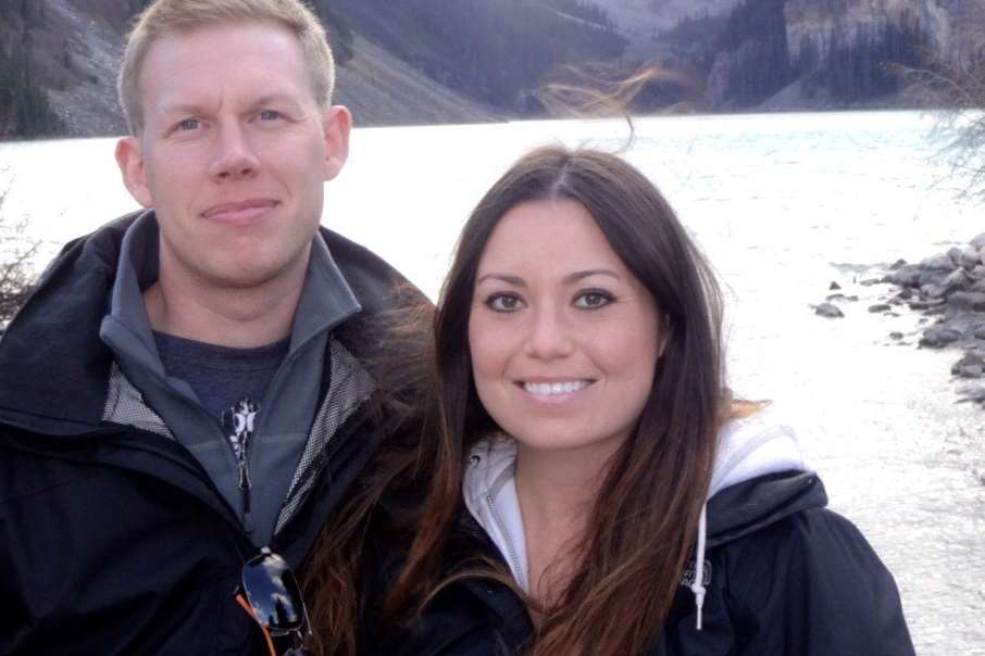 Christopher Pollitt and his girlfriend Meagan Rodi in Canada