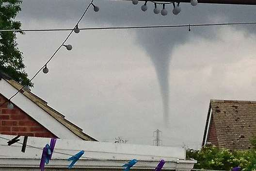 Julie Pout posted this photo on Facebook from her garden in Lydd