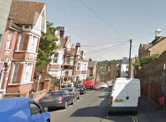 Police are looking for the driver of a Ford Fiesta which hit a woman in Manor Road, Chatham.