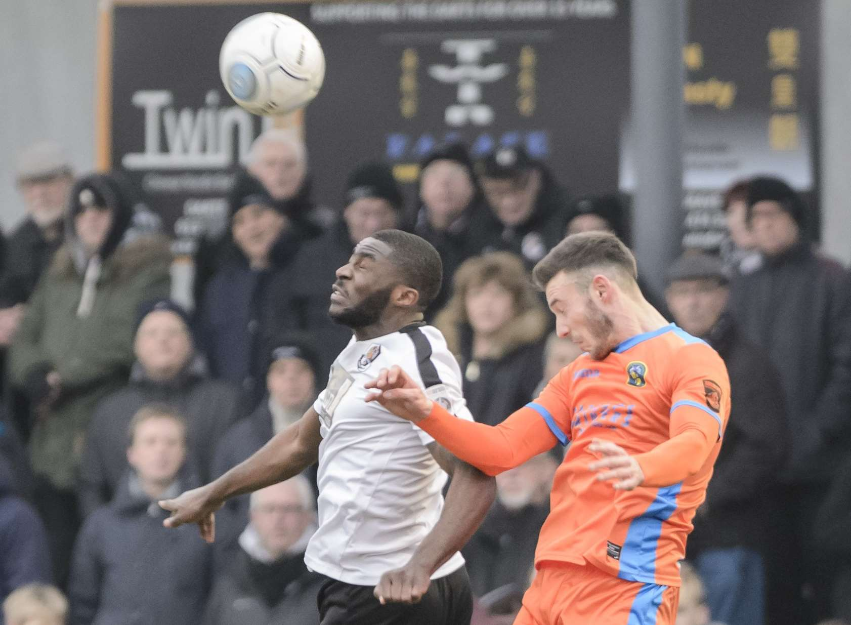 Dartford's Mark Onyemah keeps Havant at bay Picture: Andy Payton