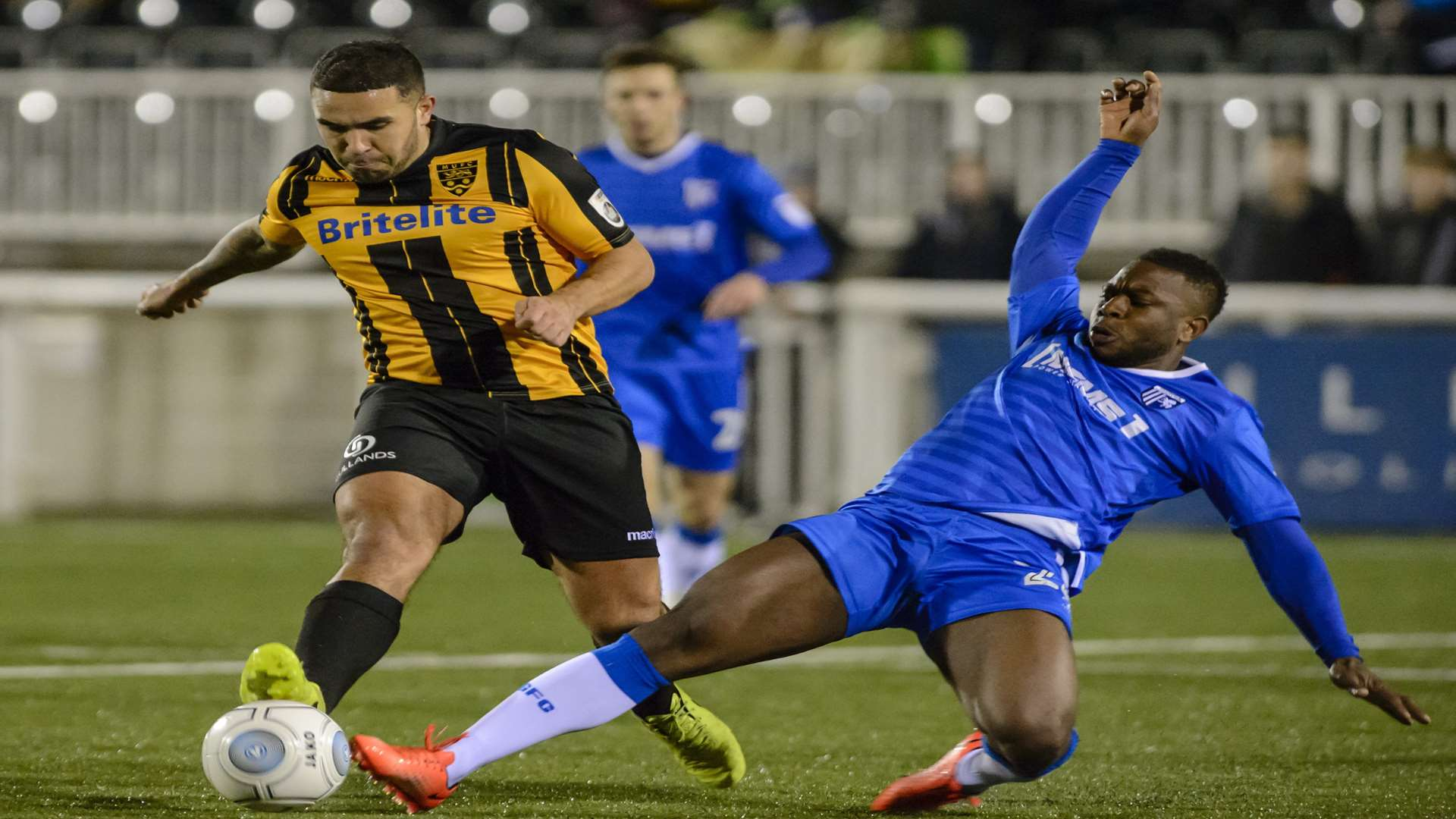 Gillingham's Frank Moussa in action against Maidstone United Picture: Andy Payton