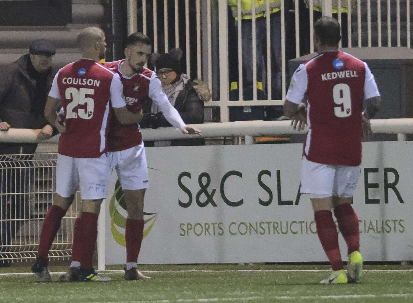 Jack Powell has just scored the winner for Ebbsfleet at Maidstone Picture: Andy Payton