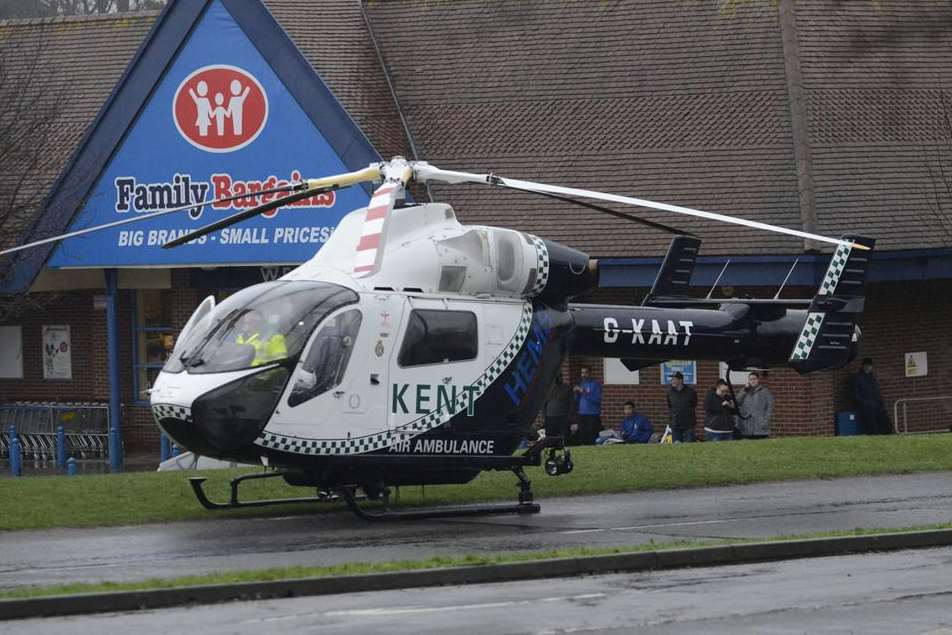 Paul Stinton was airlifted to hospital.