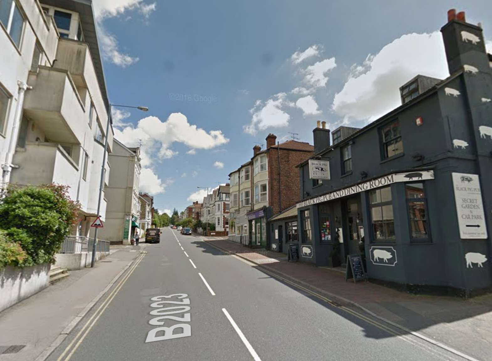 The fire happened in a ground floor kitchen in Grove Hill Road. Picture: Google.