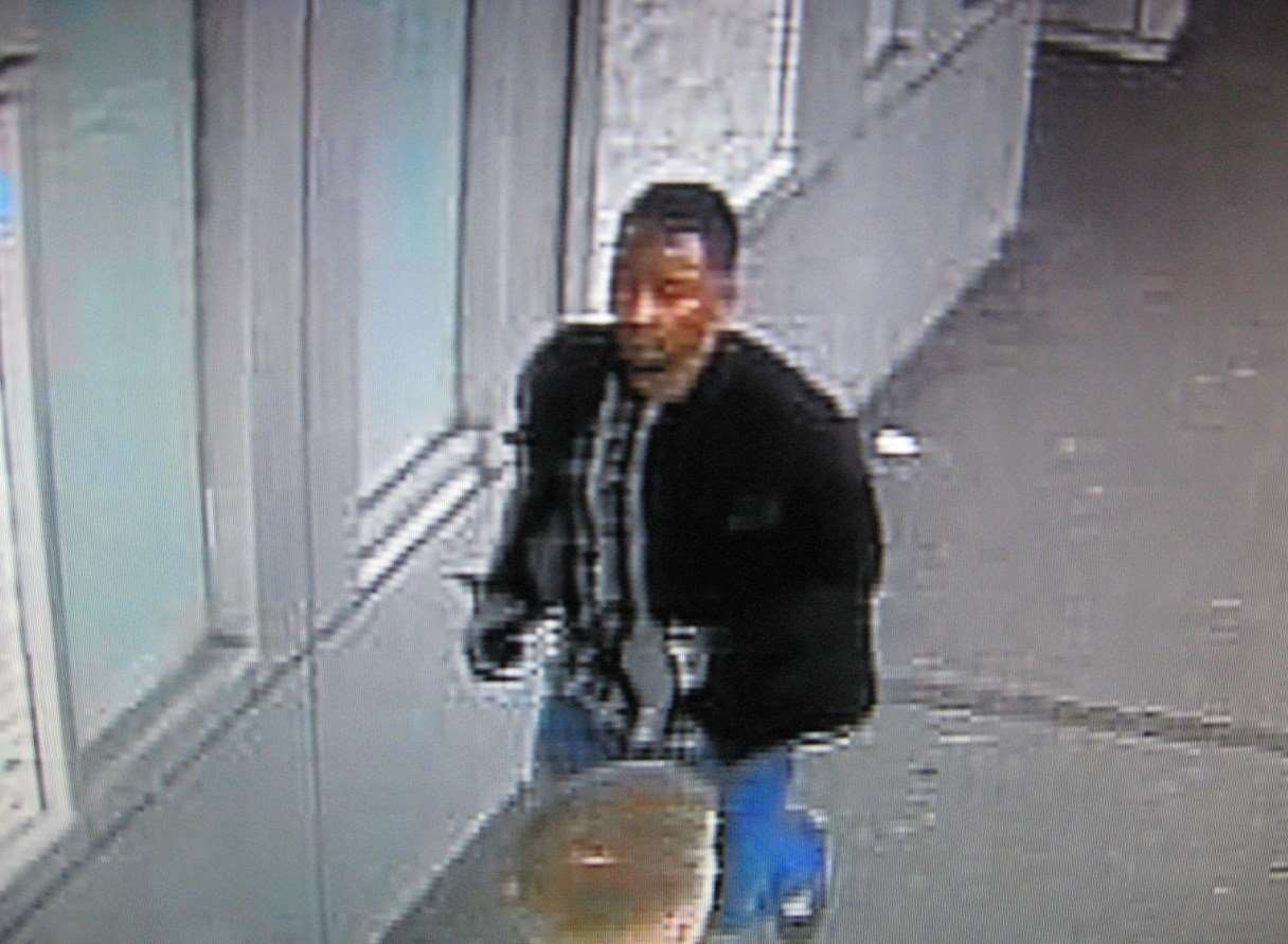 Do you know this man? Police want to talk to him.