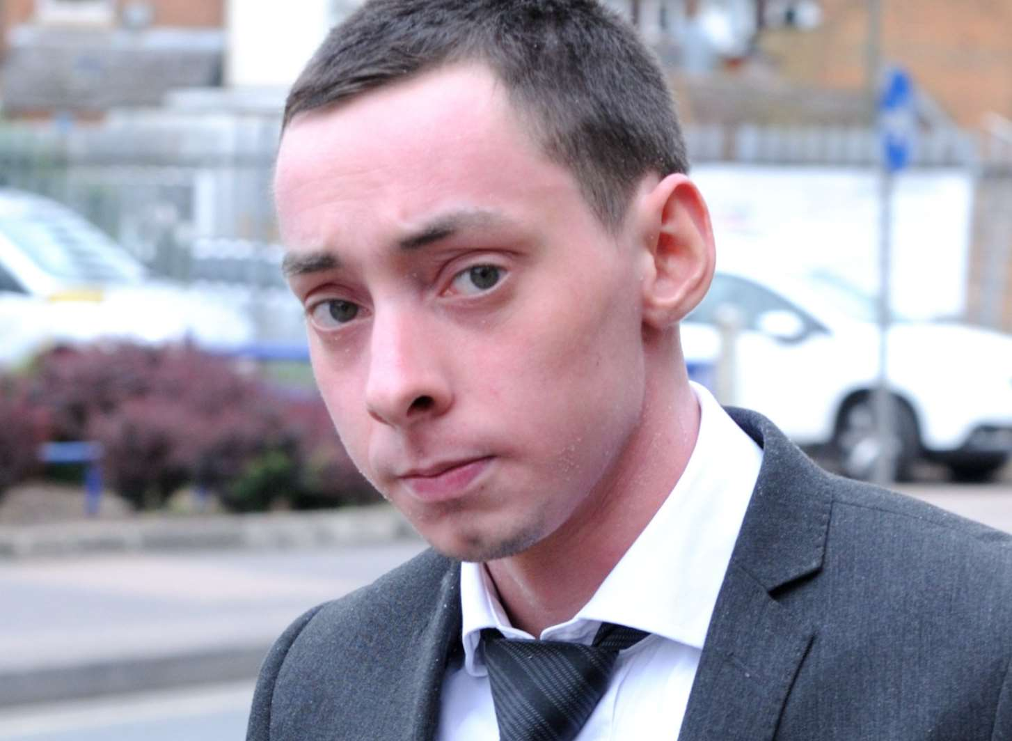 Luke Vicarey, 20, after he escaped jail for throttling his fiancee
