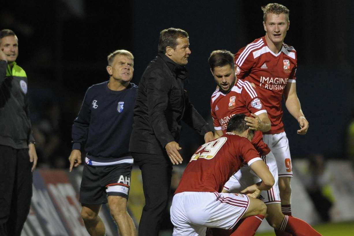 Andy Hessenthaler wants a quick restart after Swindon's 90th-minute leveller Picture: Barry Goodwin