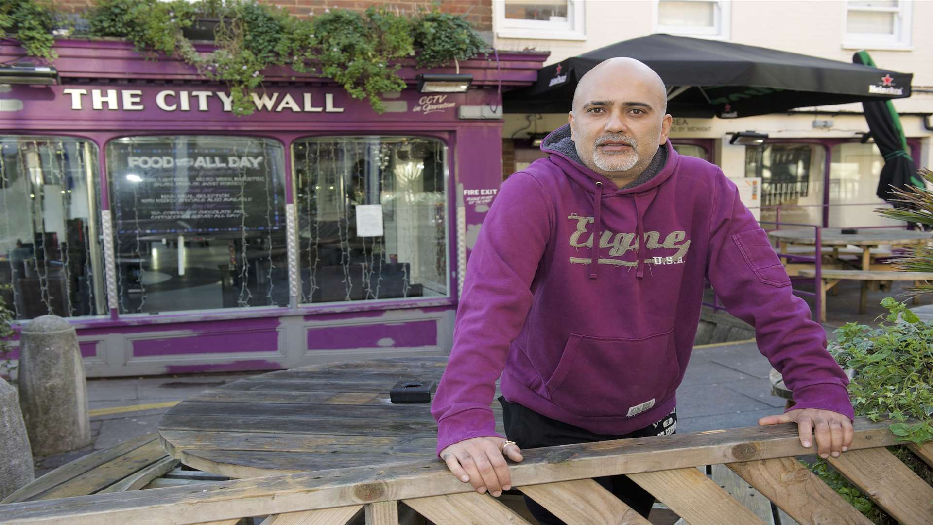 Sanjay Raval, owner of the City Wall Wine Bar in High Street, Rochester