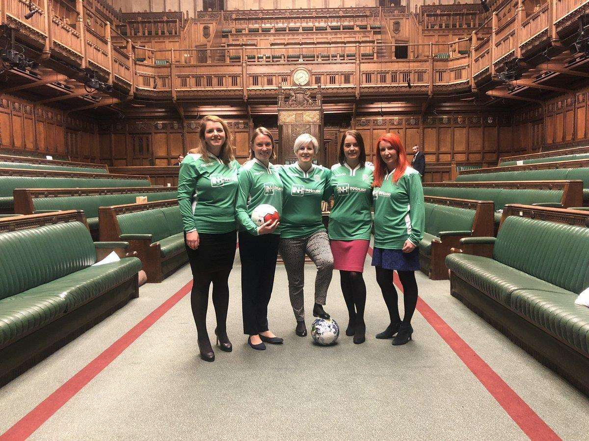 The group of deputies were told to play football in the lower house. Picture: @ HannahB4LiviMP