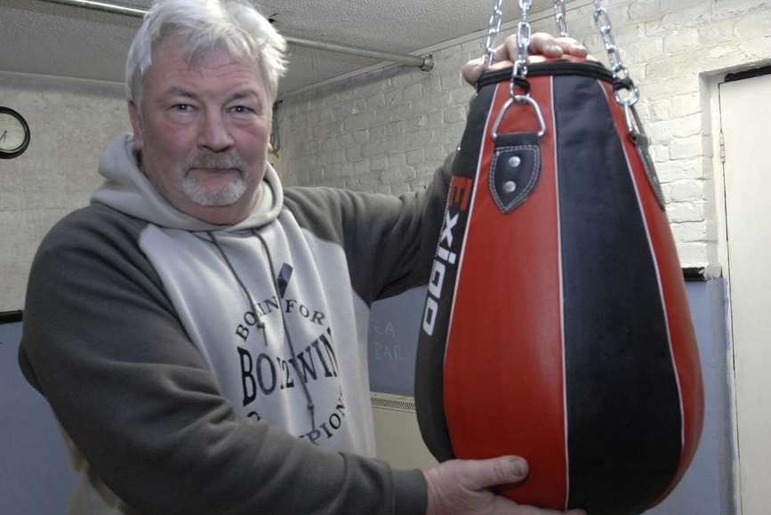 Boxing coach Ian Fleckney at the Creekside Boxing Club in Faversham