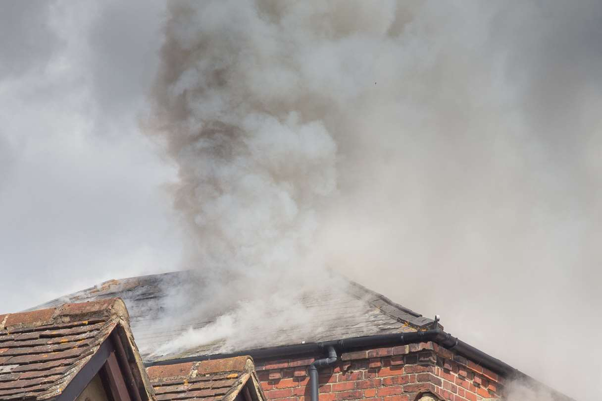 Sue Chapman captured this shot of the smoke billowing from the roof