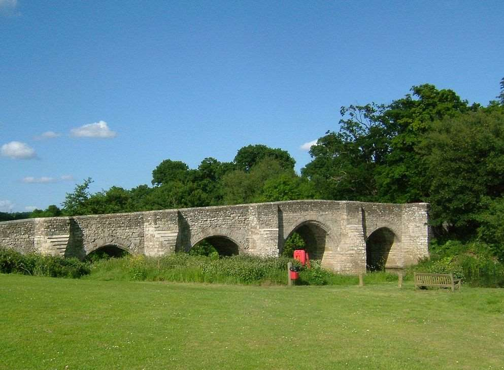 Teston Bridge. Stock picture
