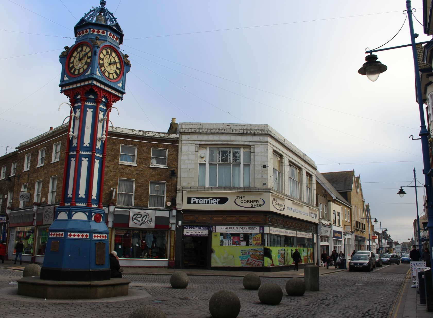 The Premier Corner Shop by Sheerness Clock Tower