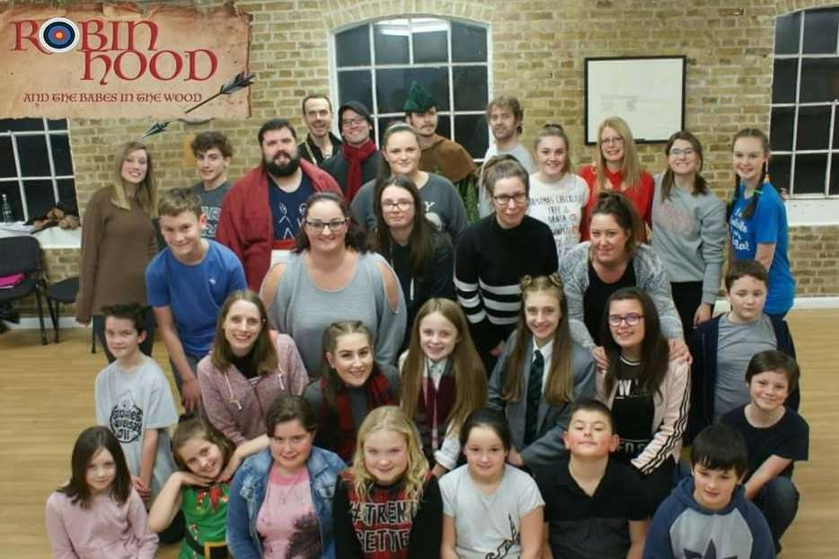 Members of the cast for the panto Robin Hood and the Babes in the Wood. Picture courtesy of Dover Operatic and Dramatic Society