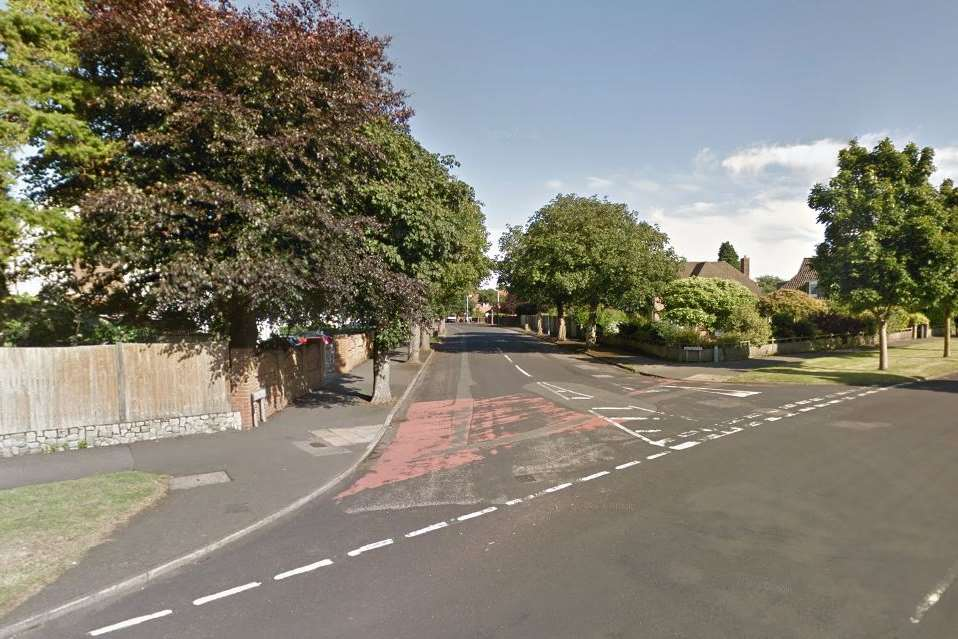 Cornwallis Avenue and Wilton Road in Folkestone where the alleged approach was made. Pic: Google