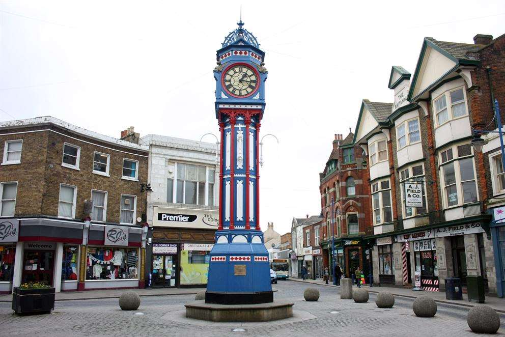 The man was attacked near the clock tower in Sheerness