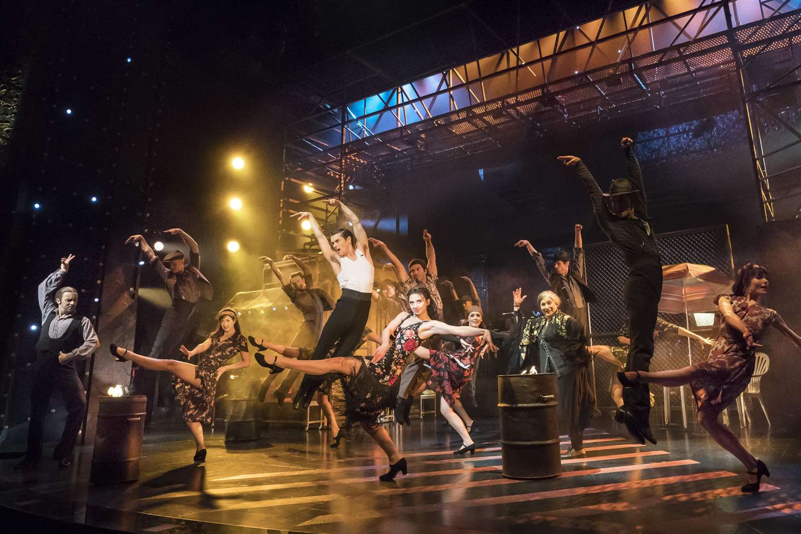 All the big dance numbers expected in a West End musical