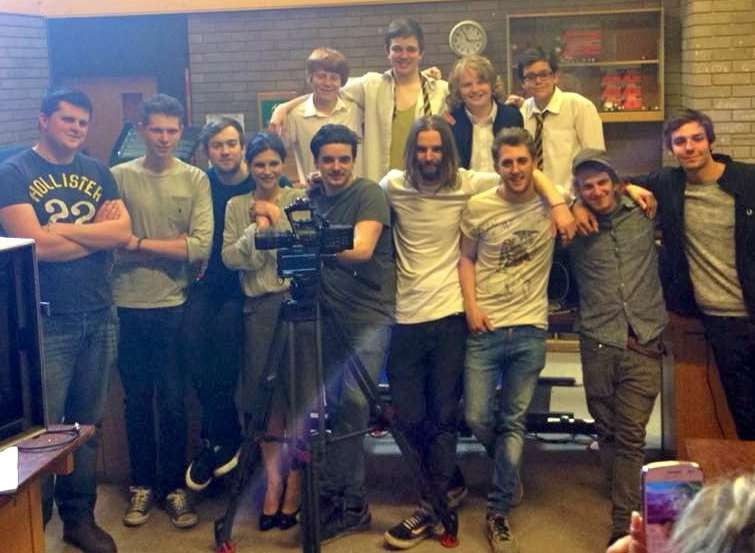 Toby Turpin with the production crew and rest of the cast of Vargo
