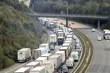 Long delays on M20 coastbound between J8 and J9