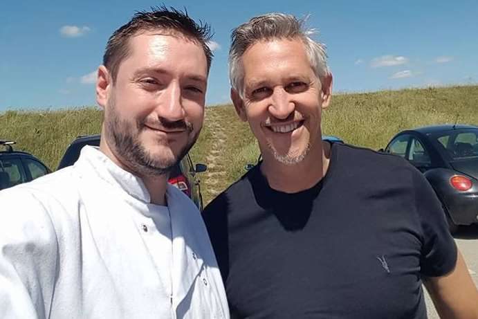 Gary Lineker at The Sportsman with sous chef Joe McMahan
