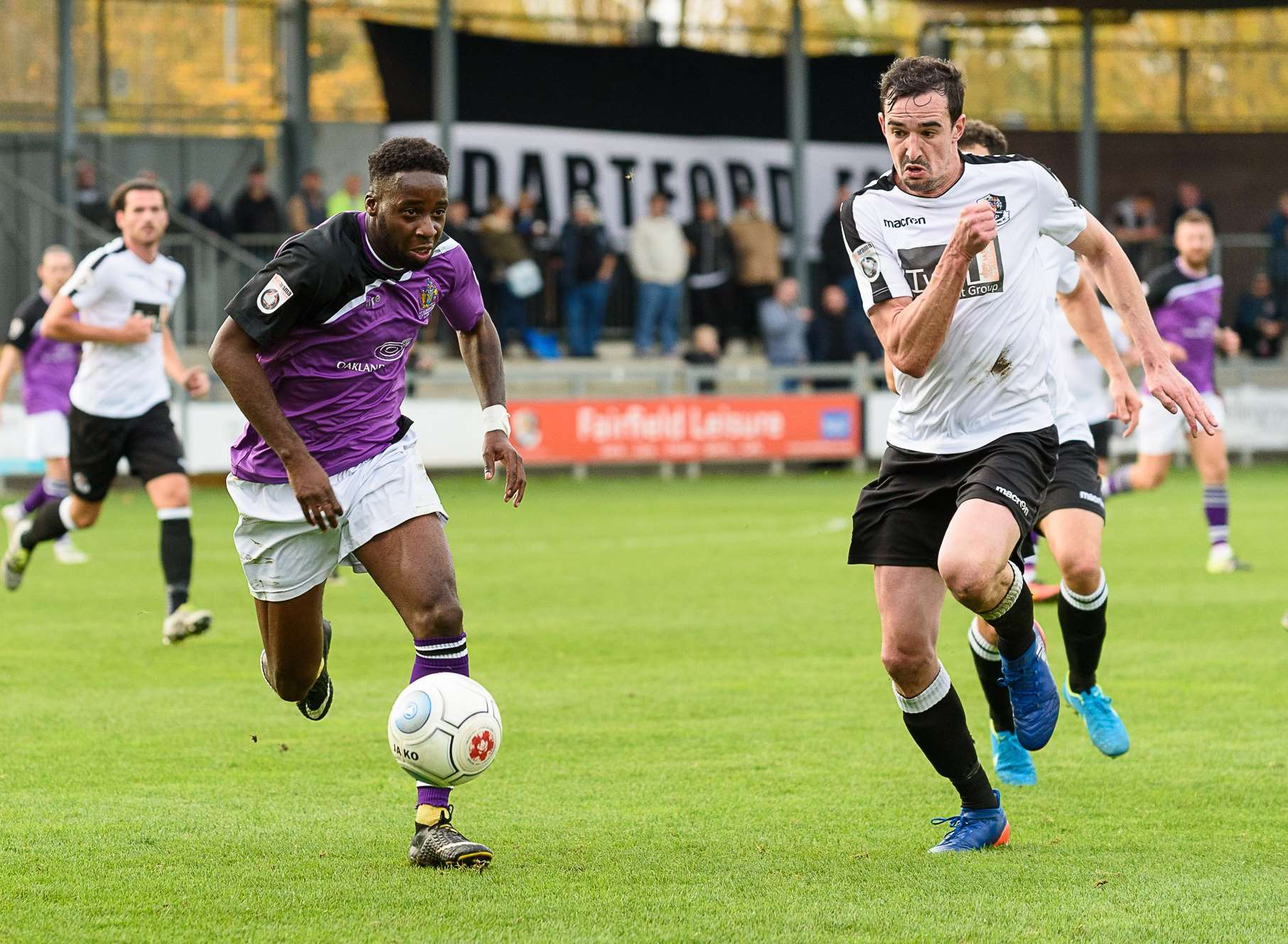 Action from Dartford's 2-1 win over St Albans Picture: Tony Jones