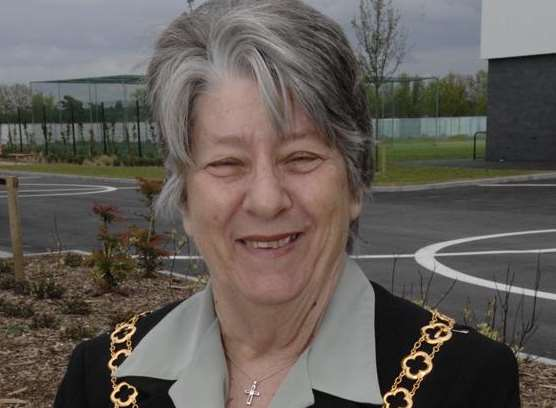 Former mayor Cllr Sue Gent
