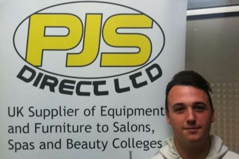 Jordan Jennings, who works as an apprentice at Rochester-based PJS Direct