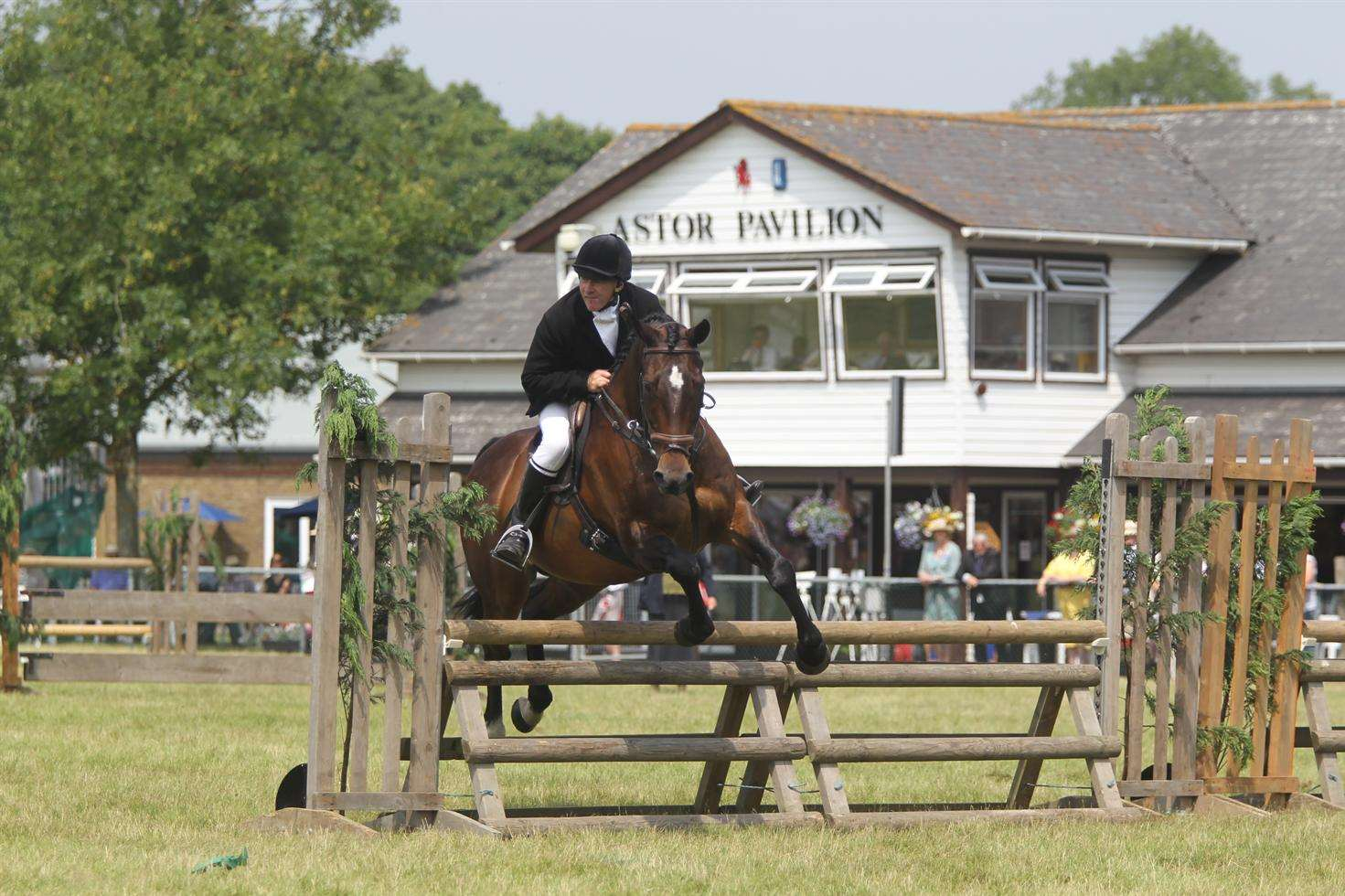 Horse riders at an equestrian event at The Kent County Show