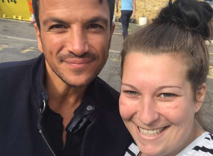 Emma Cuthbert and Peter Andre
