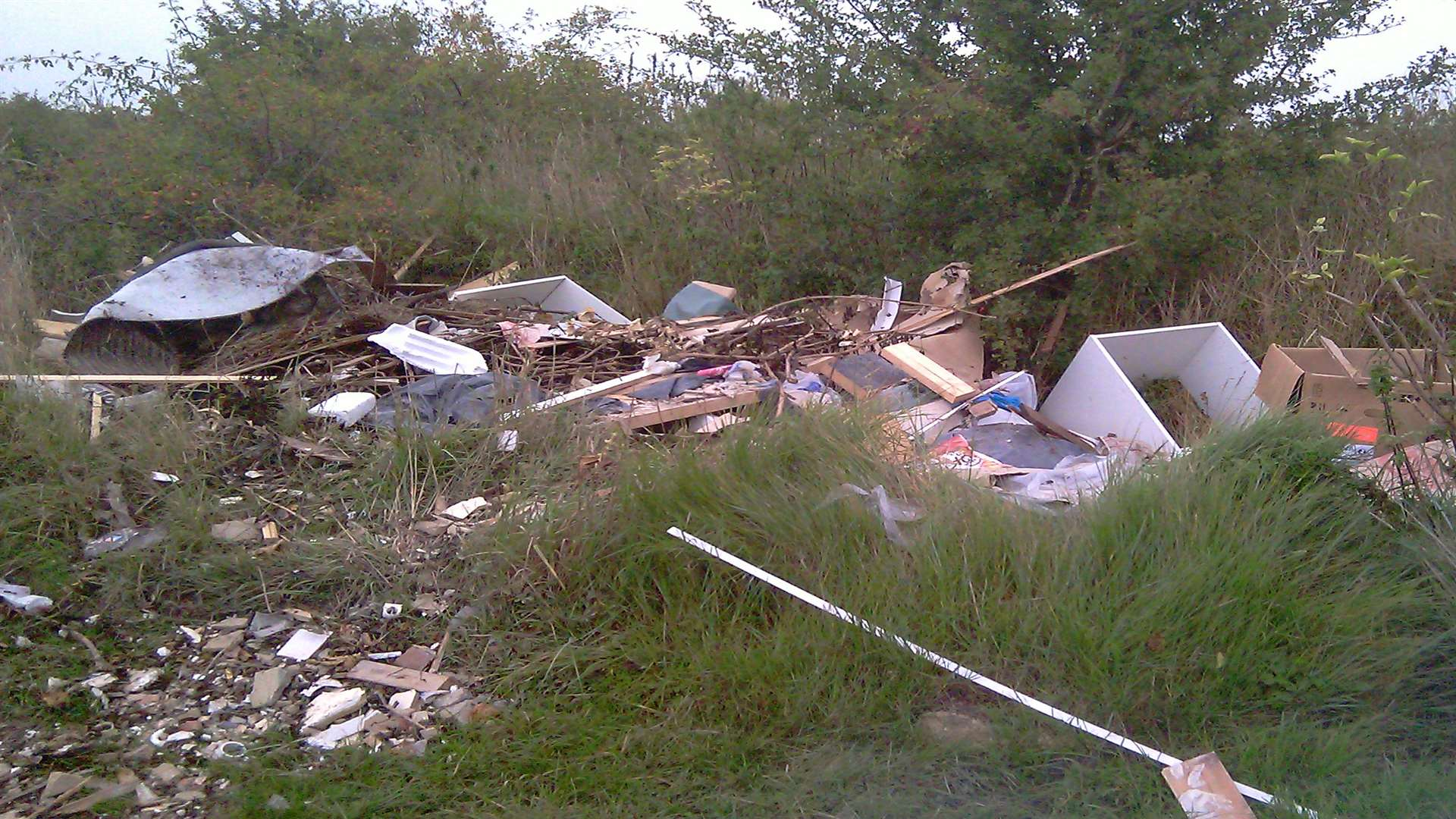 Fly-tipping has been spotted around the county with councils shelling out thousands to clear it away