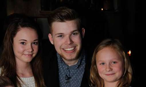Party for The Voice finalist Jamie Johnson ahead of the final