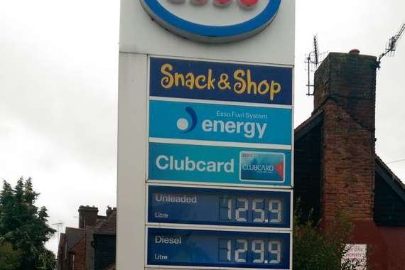 Fuel prices in Canterbury are much lower than Deal. Picture: @Dealbythesea