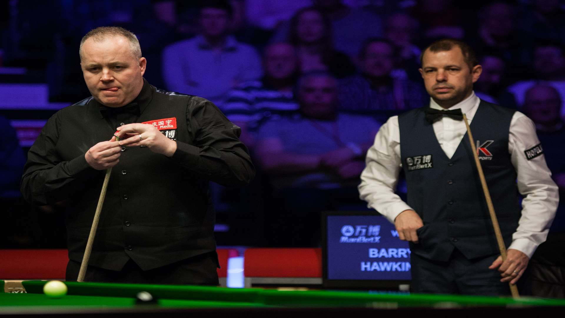 Barry Hawkins says his confidence is on the up despite losing the Welsh Open title to John Higgins Picture: World Snooker