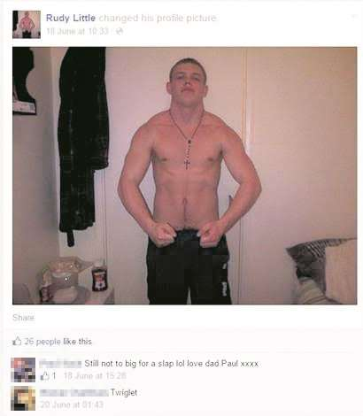 Little changed his Facebook profile picture while in HMP Elmley