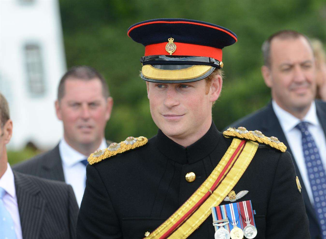 Prince Harry at the WW1 centenary commemoration at Folkestone harbour last year