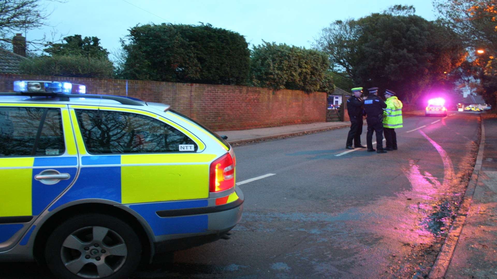 Officers investigate the death in Whiteness Road, Broadstairs